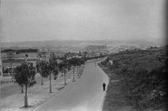 1939 - Avenida Rebouças. Ao fundo a várzea do rio Pinheiros, atual bairro de Pinheiros. Foto de B. J. Duarte.
