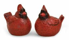 Ceramic Cardinal Salt & Pepper Shakers by Evergreen. $10.99