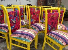 Ateliando - Customização de móveis antigos: Cadeiras Antigas Repaginadas