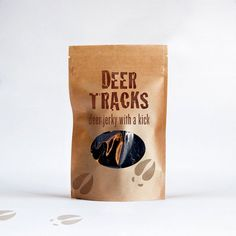 Deer Tracks Jerky 4 oz Resealable Bag by JerkyTracks on Etsy
