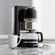KitchenAid ® Pour Over Coffee Brewer - Crate and Barrel Coffee Maker With Grinder, Pour Over Coffee Maker, First Apartment Decorating, Coffee Talk, Coffee Brewer, Dark Roast, Instagram Shop, Coffee Machine, Kitchen Styling