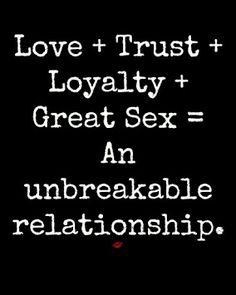 No trust, no loyalty. Secrets and lies, being in love with another woman, boring vanilla =PATHETIC