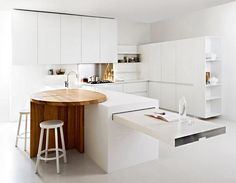White Minimalist Kitchen Corner 10 Best New Small Kitchen Design Ideas For You To See – Home and Apa Kitchen Rack Design, Interior Design Kitchen, Home Interior, Kitchen Designs, Interior Architecture, Minimalist Kitchen Interiors, Small Space Kitchen, Kitchen Corner, Kitchen Dining