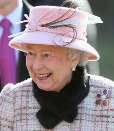 Queen Elizabeth II Photos - Prince Phillip, Duke of Edinburgh and Queen Elizabeth II attends church at West Newton on February 2014 in King's Lynn, England. - Queen Elizabeth II Attends Church In Norfolk Hm The Queen, Queen Love, Royal Queen, Her Majesty The Queen, Save The Queen, Norfolk, Commonwealth, Windsor, Queen Hat