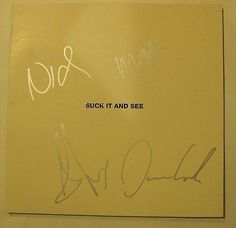Arctic Monkeys Autographed Signed Vinyl 'Suck It And See' Album COA Alex Turner