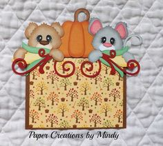 TOCG fall photo mat border premade paper piecing scrapbook page album border ~ Paper Creations by Mindy