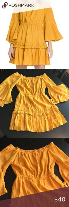 Endless Rose Mustard Bell Sleeve Dress Size S Only worn once - excellent condition Endless Rose Dresses Mini