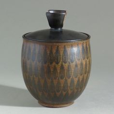 Important covered jar made by Harrison McIntosh circa 1963, museum exhibited   eBay