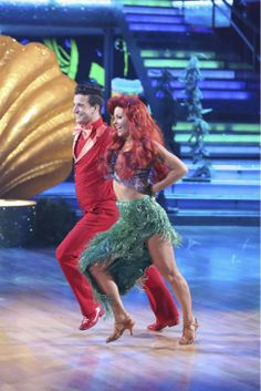 Candace Cameron Bure and Mark Ballas dance a 'Little Mermaid'-themed Samba on week 5 of 'Dancing With The Stars' season 18 -- Disney Night -- on April 14, 2014.