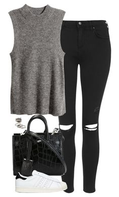 """Untitled #4851"" by eleanorsclosettt ❤ liked on Polyvore featuring Topshop, H&M, Yves Saint Laurent, adidas Originals and Forever 21"