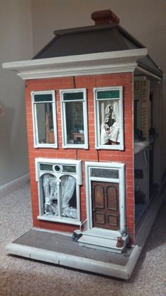 My dollhouse circa 1911 modeled from a rowhouse on Bond St in Baltimore, MD