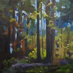 Image result for diy forest paintings