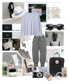 """""""On vacation"""" by nathalie-puex ❤ liked on Polyvore featuring Polaroid, Voz, Fjällräven, Isolde Roth, adidas Originals, Korres, Tocca, Elle Macpherson Intimates, Christian Dior and Melissa Odabash"""