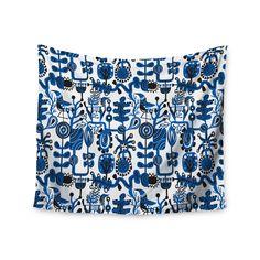 "Agnes Schugardt ""Dream"" Blue White Wall Tapestry"