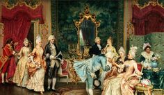 Rococo was a late eighteenth-century art movement that included painting, sculpture, architecture, music, and interior design. It developed in Paris, France, as a backlash against the rigidity of the Baroque movement. The movement's art and architecture used fluid lines and curves, ornate designs, and pastel colors.