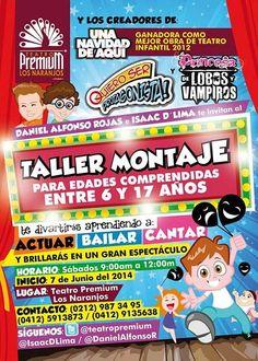 Taller Montaje para Niños, Niñas y Adolescentes en Teatro Premium Los Naranjos | Recomendao.comRecomendao.com