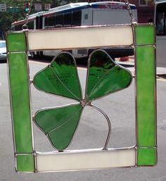 Stained Glass Irish Shamrock Clover 9045 R | eBay