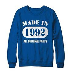 c4bf145b5 Made in 1992 All Original Parts Vintage Retro 26yo Perfection Birthday T- Shirt Hanes -