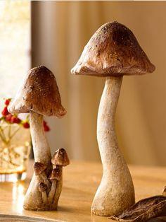 Es ist Pilzzeit! In der Küche – und auch im Wohnzimmer! Wir verraten Ihnen, wie Sie sich einen bunten Deko-Herbstwald in Ihren eigenen vier Wänden zaubern. #Herbst #Deko