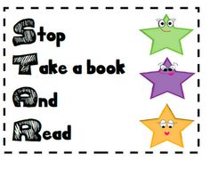 Drop Everything and Read (D.E.A.R. time) - FREE printables