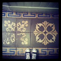 #fromwhereistand #sol #carrelage #vintage #hall d'immeuble rue du #Languedoc