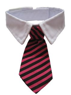 New Small Dog Cat Pet Stripe Bow Tie Neck Tie White Collar Choose Color (Red/Black) - http://www.thepuppy.org/new-small-dog-cat-pet-stripe-bow-tie-neck-tie-white-collar-choose-color-redblack/