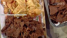 """La ricetta delle chiacchiere al cacao arancia e anice di Sal De Riso del 17 febbraio 2017, a """"La prova del cuoco""""."""
