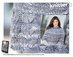 Cloud Cover pattern by Valerie Martinuson Big Time, Magazine Rack, Shades, Clouds, Wool, Knitting, Cover, Classic, Winter