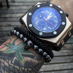 f031fbbc1 Mcllroy 18 21cm Black Hematite Stone Elastic Bead Bracelet Male Skull  Charms Bracelet & Bangle For Womens Men diy skull jewelry-in Strand  Bracelets from ...