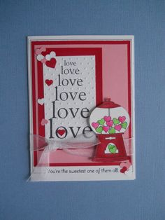 Handmade Valentine Card  Love Your the by CooCoo4UCreations, $3.00