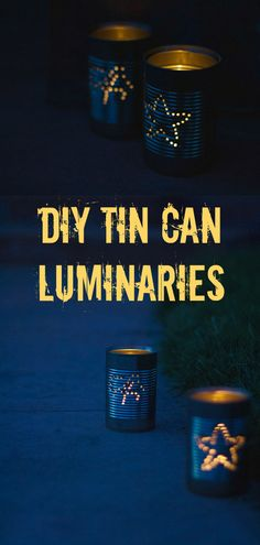 Gorgeous tin can luminaries/tea light holders for your next big outdoor event #upcycling