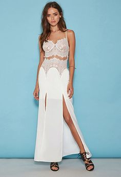 Tiger Mist Eyelash Lace Maxi Dress | Forever 21 | #f21brandedshop