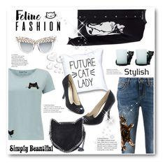 """Cat Style"" by stranjakivana ❤ liked on Polyvore featuring MSGM, Anna-Karin Karlsson, Dolce&Gabbana, STELLA McCARTNEY, Yankee Candle, Valentino and Ziggy"