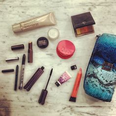 What's in your makeup bag? Here's one of our girls' today. #Sephora