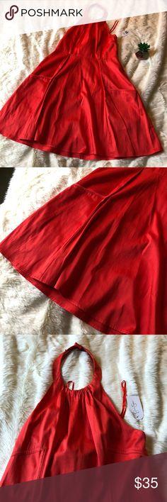 Jessica Simpson Coral Blush Halter Dress NWT Jessica Simpson Coral Blush Halter Dress. Size 8, NWT Jessica Simpson Dresses Midi