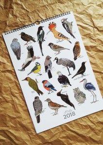 kalendarz Ptaki 2018 A3 12 stron + okładka