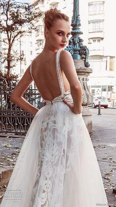 miriams bride 2018 bridal sleeveless deep v neck heavily embellished bodice romantic a line wedding dress open back (10) bv -- Miriams Bride 2018 Wedding Dresses