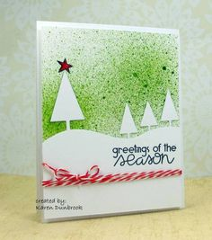 IC361, Speckled Christmas by k dunbrook - Cards and Paper Crafts at Splitcoaststampers