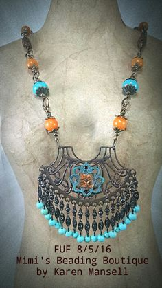 July/ August challenge piece by Karen Mansell Mimi's Beading Boutique.