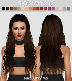 Hallow Sims: Skysims 202 hair retextured  - Sims 4 Hairs - http://sims4hairs.com/hallow-sims-skysims-202-hair-retextured/