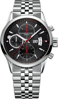 Raymond Weil Watch Freelancer Mens #bezel-fixed #bracelet-strap-steel #brand-raymond-weil #case-depth-13-7mm #case-material-steel #case-width-42mm #chronograph-yes #date-yes #day-yes #delivery-timescale-4-7-days #dial-colour-black #gender-mens #luxury #movement-automatic #official-stockist-for-raymond-weil-watches #packaging-raymond-weil-watch-packaging #style-sports #subcat-freelancer #supplier-model-no-7730-st-20041 #warranty-raymond-weil-official-2-year-guarantee #water-resistant-100m