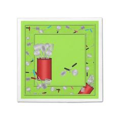 Kitchen Utensils,Green-PAPER PARTY NAPKINS #zazzle #napkins #utensils #green