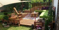 Muebles y complementos para el jardín hechos con palets de madera, la tendencia para verano 2014