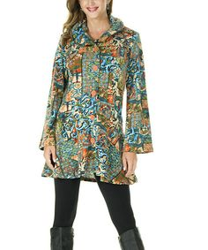 Look what I found on #zulily! Rusty Blue Abstract Button-Up Jacket - Women & Plus by ROSSI ROMA #zulilyfinds