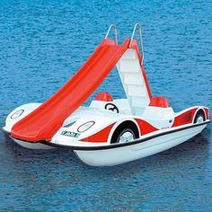 Pedal-boat, 5 person, with a slide:)