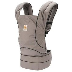 Ergobaby Travel Baby Carrier In Stowaway Graphite Grey. See More Baby Carriers at http://www.ourgreatshop.com/Baby-Carriers-C1146.aspx