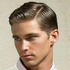 blonde side parting men style