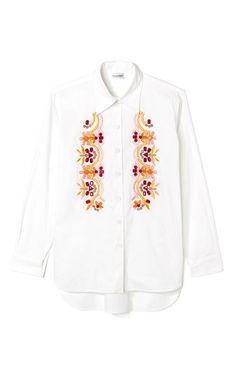 Embroidered Poplin Blouse by Philosophy di Alberta Ferretti for Preorder on Moda Operandi