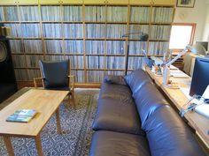 Murakami's study room.