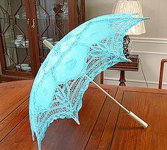 Turkoosi Pitsinen päivänvarjo sais täältä hyvän kodin ^_^ $36.00